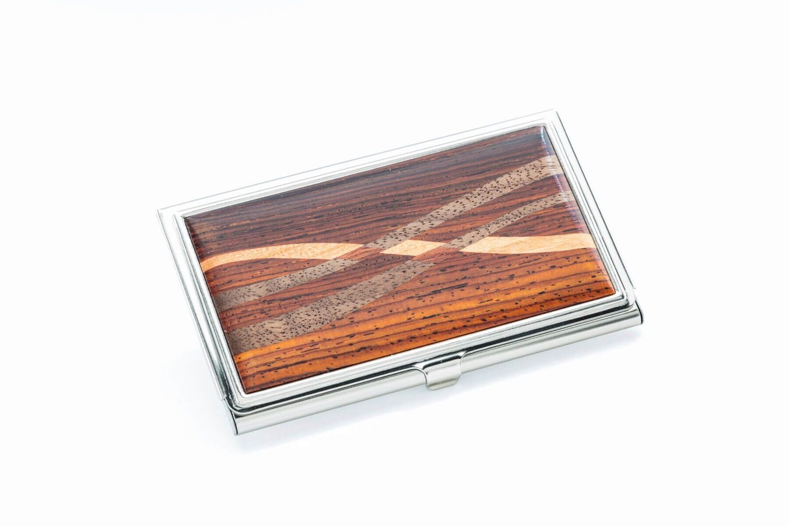 Inlaid Business Card Case Cocobolo Rosewood