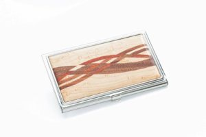 Inlaid Business Card Case - Maple