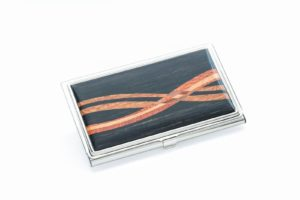 Inlaid Business Card Case - Ebony