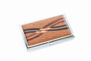 Inlaid Business Card Case - Cocobolo Rosewood