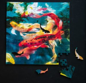 Koi Wooden Jigsaw Puzzle pieces