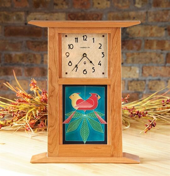 Large Craftsman Tile Clock