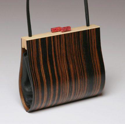 Myrica Ebony Wood Handbag