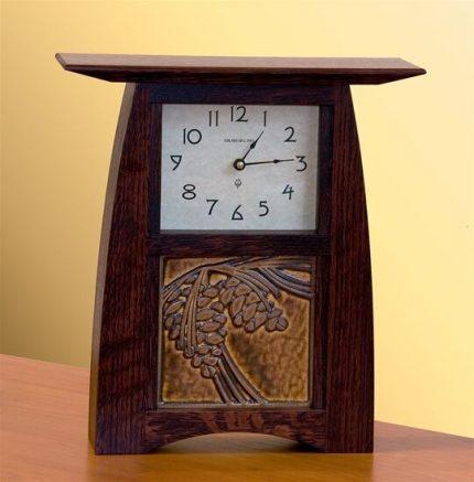 Schlabaugh & Motawi Arts & Crafts 6x6 Tile Clock