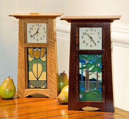 Schlabaugh & Motawi Craftsman Tile Clock