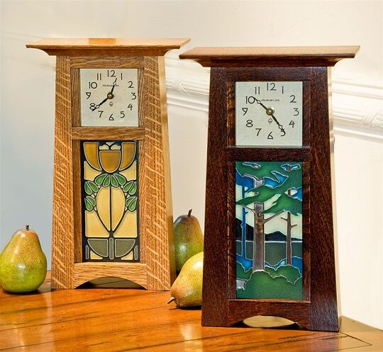 Schlabaugh & Motawi Craftsman Tile Clock