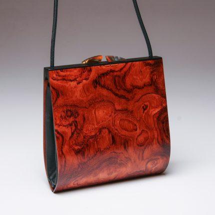 Trillium Bubinga Wood Handbag