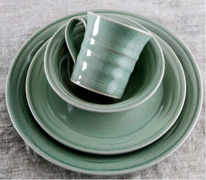Belmont Crackle Celadon Dinnerware