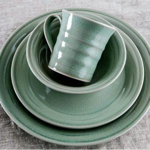Belmont Crackle Celadon Dinnerware