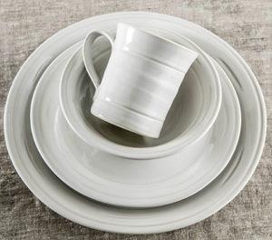 Belmont Crackle Dove Dinnerware