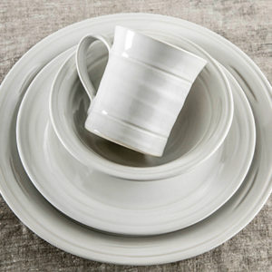 Belmont Crackle Dove Dinnerware