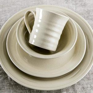 Belmont Crackle Ivory Dinnerware