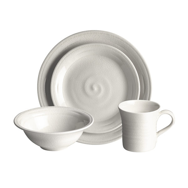 Belmont Place Setting w Cereal Bowl Dove