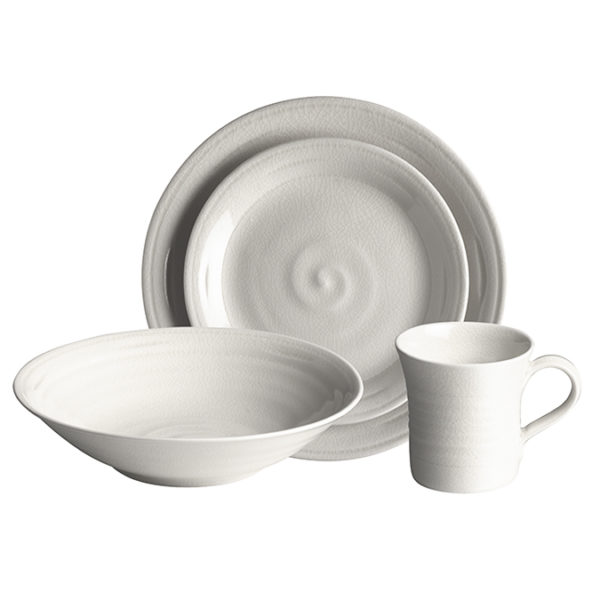 Belmont Place Setting w Pasta Bowl Dove