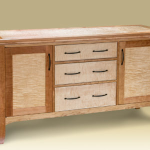 Cherry & Birdseye Maple Bureau for bedroom or dining room