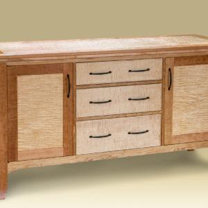Cherry & Birdseye Maple Bureau for bedroom or dining room