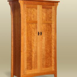 Figured Cherry Prairie Armoire