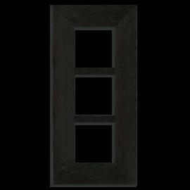 4x4 Triple Oak Park Frame - Ebony