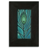 4x8 Peacock Feather tile in Ebony Frame