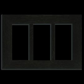 4x8 Triple Oak Park Frame - Ebony