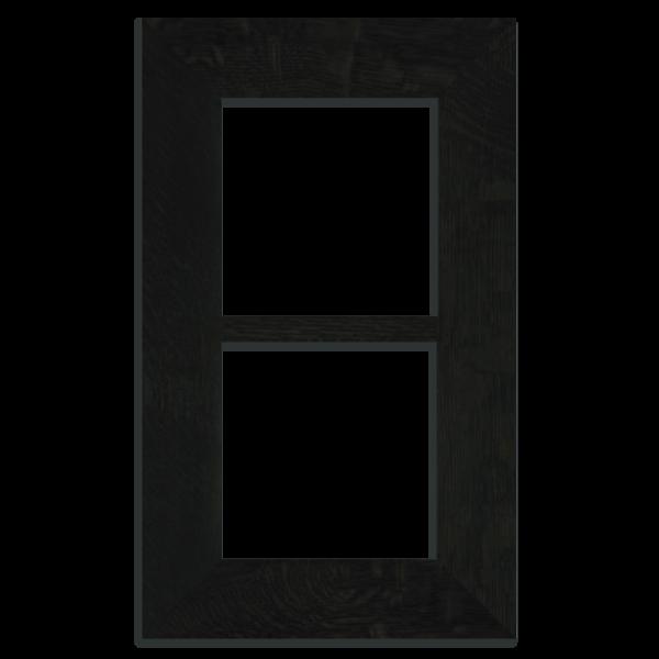 6x6 Double Oak Park Frame - Ebony