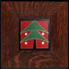 Christmas Tree Tile in Oak Frame