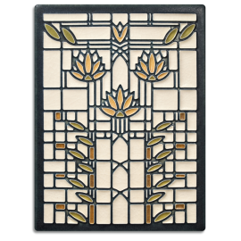 Cream Waterlilies Tile