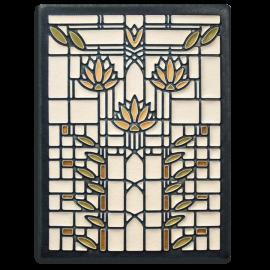 Cream Waterlilies Tile