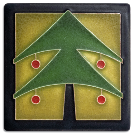 Green Christmas Tree Tile