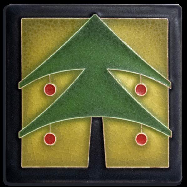 Green Christmas Tree Tile