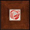 Hillside Rose Tile in Legacy Frame