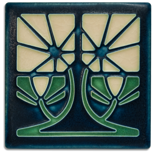 Indigo Petunia Tile