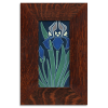 Iris Tile in Oak Frame