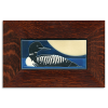 Loon Tile in Oak Frame