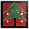 Red Christmas Tree Tile