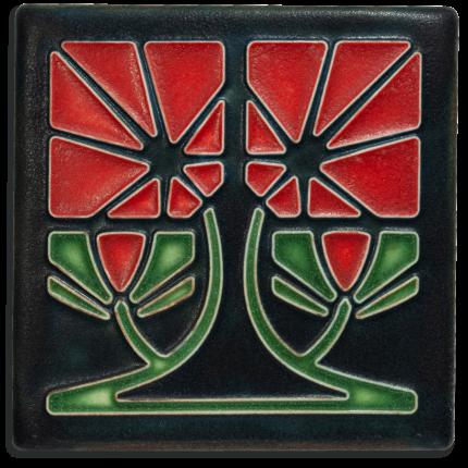Red Petunia Tile