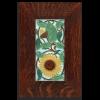 Sunflower in Oak Frame