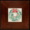 White Wreath Tile in Legacy Frame