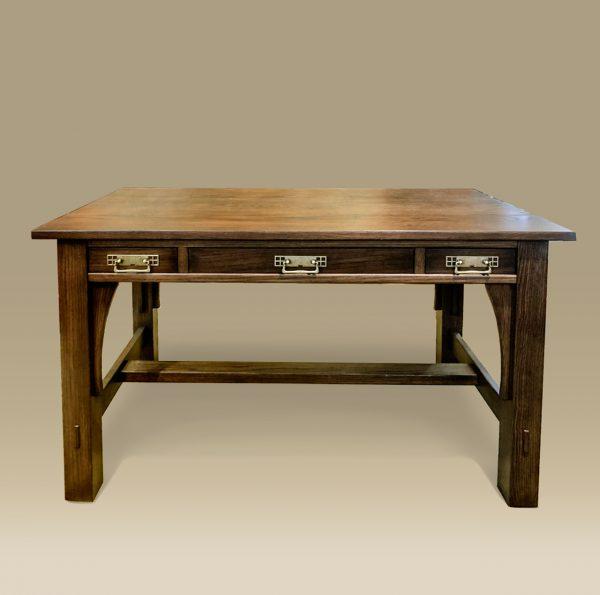 three drawer prairie desk