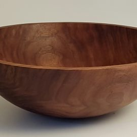 "18"" Round Black Walnut Bowl"