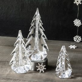 Vermont Evergreen Glass Tree Trio Simon Pearce