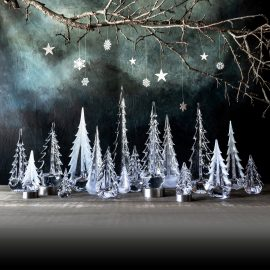 Enchanted Forest Winter Scene Glass Trees Simon Pearce