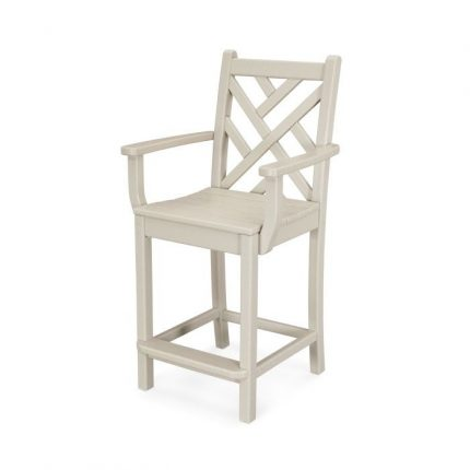 Chippendale Counter Arm Chair in Sand
