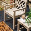 Chippendale Garden Arm Chair in Sand