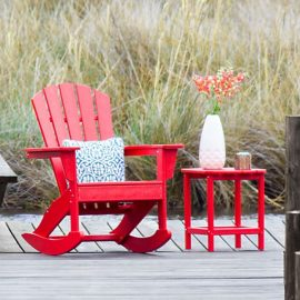 Polywood Palm Coast Adirondack Rocking Chair