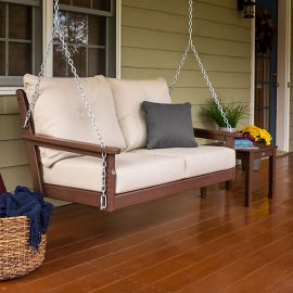 Polywood Vineyard Deep Seating Porch Swing