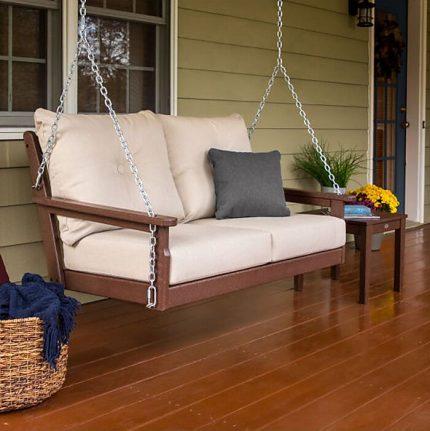 Polywood Vineyard Deep Seating Porch Swing