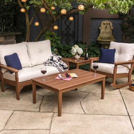 Vineyard 4-piece Deep Seating Rocking Chair Set w Newport