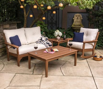 Vineyard 4-piece Deep Seating Rocking Chair Set w Newport