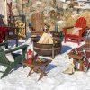 Vineyard Adirondack Set in Winter